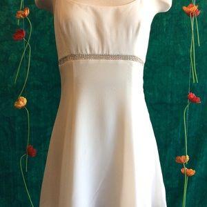 Callipygian Rhinestone Mini Dress White SS18- NWT